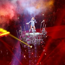 Lady Gaga performs at this year's Super Bowl halftime show.